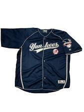 Men's New York Yankees MLB True Fan Stitched Jersey Size 2XL