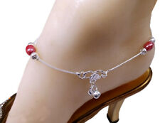 Bollywood Designer Silver Tone Indian Anklets Payal ( PJIJ2 ) - 1 Pair