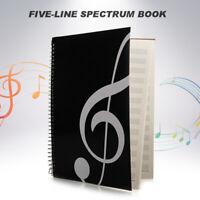Blank Music Sheet Manuscript Writing Paper Book Stave Notebook 50 Sheets A4