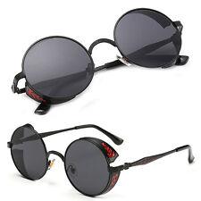 Vintage Polarized Steampunk Sunglasses Fashion Men Women Round Mirrored Eyewear