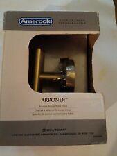Amerock Arrondi Wall Mount Single Robe Hook in Brushed Bronze/Golden Champagne