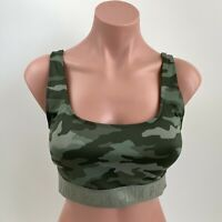 Victoria's Secret PINK Ultimate Camo Gym to Swim Unlined Sport Bra  Green  M NWT