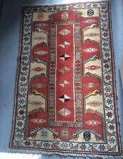 Alfombra turca Anatolia inusual Vintage