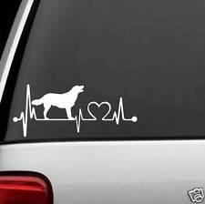 K1044 Golden Labrador Heartbeat© Dog Decal Sticker Car Truck SUV Van LAPTOP Gift