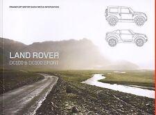 LAND ROVER DC100 DC 100 SPORT Prospekt Pressemappe Media +++++++++++++++++++++++