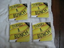 4 BRAND NEW PACKS OF THANK YOU CARDS THANKS A BUNCH 31 CARDS AND ENVELOPES TESCO