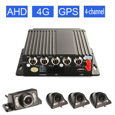 4CH Car DVR AHD SD 3G / 4G Wireless GPS Realtime Video Recorder & 4 HD Cameras