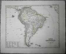 1848 Stieler map SOUTH AMERICA (#49a)