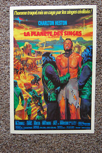 Escape from the Planet of the Apes Movie poster Lobby Card Charlton HestonFrench