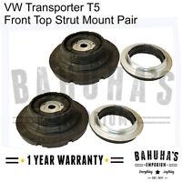 VW T5 TRANSPORTER MK5 2003-2015 FRONT SUSPENSION TOP STRUT MOUNTS & BEARINGS