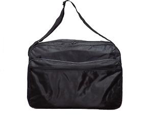 DUFFLE BAG BLACK 19X10X13 Nylon TRAVEL GYM BAG 3 Section CARRY ON LUGGAGE NEW