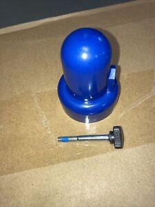 Trampoline Blue Enclosure Pole Cap with Bolt(Skywalker, Airzone,Variflex)