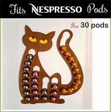 Nespresso Origin Coffee Capsule Pod Holder Wooden Cat Rack Dispenser Gift