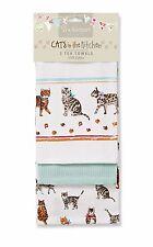 Cooksmart Toallas algodón toalla de té con gatos en desfile Pack 3 TT9290