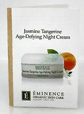 Eminence Jasmine Tangerine Age-Defying Night Cream - Samples 12 cards