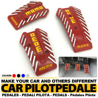 Red Universal Manual MT Racing Sport Truck Car Non-Slip Pedals Pad Covers Set