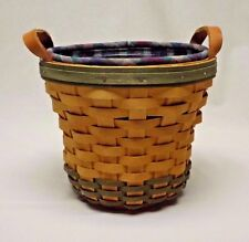 Longaberger 2000 Golf Club Basket with Plaid Liner, Protector and Certificate