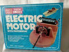 Vtg Electric Motor Kit w/ Motorboat MiniLabs Adler Design Homeschool Sealed Nib