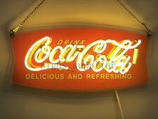 "New Drink Coca Cola Coke Bar Pub Wall Decor Acrylic Neon Light Sign 15""x10"""