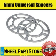 Wheel Spacers (5mm) Pair of Spacer Shims 4x100 for Fiat Punto Evo 08-12