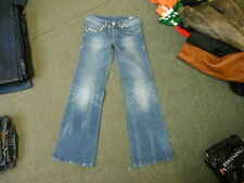 "Diesel Vixy Jeans Waist 28"" Leg 32"" Faded Medium Blue Ladies Jeans"