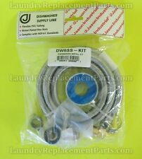 DISHWASHER INSTALL KIT WITH  6' STAINLESS STEEL LINE # DW6SS-KIT