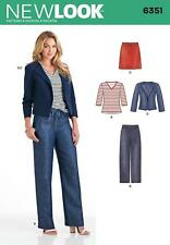 NEW LOOK SEWING PATTERN Misses' JACKET SKIRT KNIT TOP  SIZE 10 -22 6351