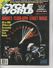 JULY 1987 CYCLE WORLD motorcycle magazine HONDA 17000 RPM STREET MAGIC