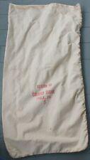 Vintage Heavy Cloth Canvas Money Bag Girard Bank Philadelphia PA
