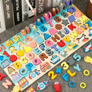 Kid Busy Board Math Preschool Montessori Educational Wooden Toys For Children