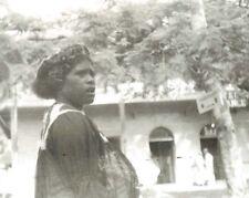 Vintage  Real Photo Noumea New Caledonia Woman see through dress unusual fashion