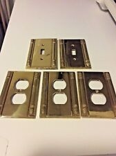 5 Gold Finish Metal Switch Plates Electric Outlet Covers 2 Different Styles