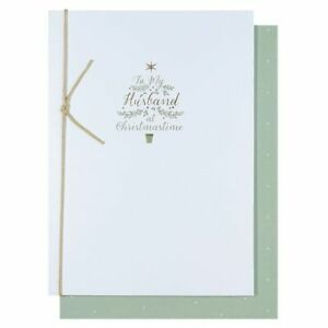 To My Husband at Christmastime Christmas Card Tree Text Paperchase