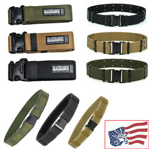 Military Pistol Belt Tactical Nylon Webbing Belt Combat Soldier Belt Waistband