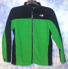 Boys XL (18-20) Northface Green/Blue Fleece Jacket - EUC