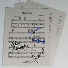 """THE ZOMBIES Signed Autograph """"Tell Her No"""" Sheet Music by All 4 Members"""