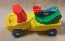 Vintage LITTLE TIKES Toddle Tots CRANE TRUCK 1985 Toy Vehicle VGC