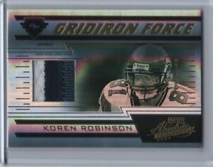 2004 Playoff Absolute Memorabilia Gridiron Force Patch Prime Koren Robinson 1/25