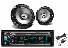 Kenwood Coaxial 2Way Car Speakers, Kenwood Bluetooth iPod USB AUX Mp3 Car Radio
