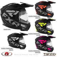 New 2020 Fxr Maverick Modular Team Snowmobile Helmet Black/Hi-vis/Orange/Fuchs ia