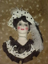 CLAY ART CERAMIC MASK...NANETTE...EXTREMELY RARE!