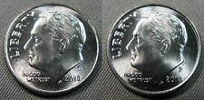 2018 D P Roosevelt Dime 1-D 1-P Brilliant Uncirculated OBW Roll Coin's