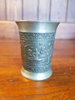 Vintage Small Continental Pewter Beaker