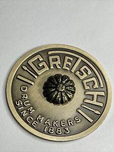 Gretsch 1960's Round Drum Badge Made until 1970 w/tack.