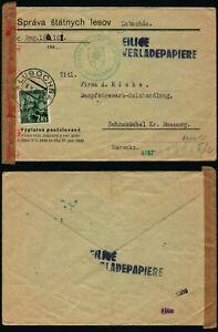 N211 Slovakia censored cover Germany Lubochna Schonbuchel 1943