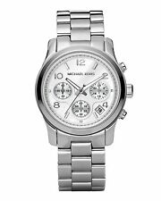 Michael Kors Runway Adult Silver Strap Wristwatches