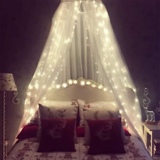 Mosquito Net for Bed, Bed Canopy with 100 led String Lights, Ultra Large Hanging
