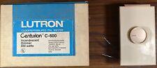 Lutron Centurion C-600 600 Watt Incandescent Dimmer Single Pole 120 Volt