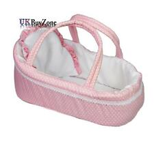Pink Baby Dolls Carry Cot Bed with Pillow Carry Handles Sleeping Bag Carrier