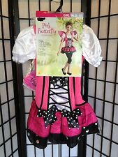 Pink Butterfly Mariposa Girl Medium 8-10 Halloween Costume NWT